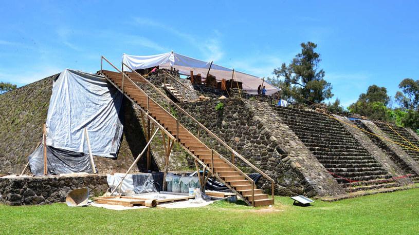 Nowo odkryte świątynie leżą pod piramidą Teopanzolco /Fot. INAH /materiały prasowe