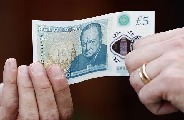 Nowo wprowadzone do obiegu brytyjskie banknoty o nominale 5 GBP zawierają tłuszcz zwierzęcy /AFP