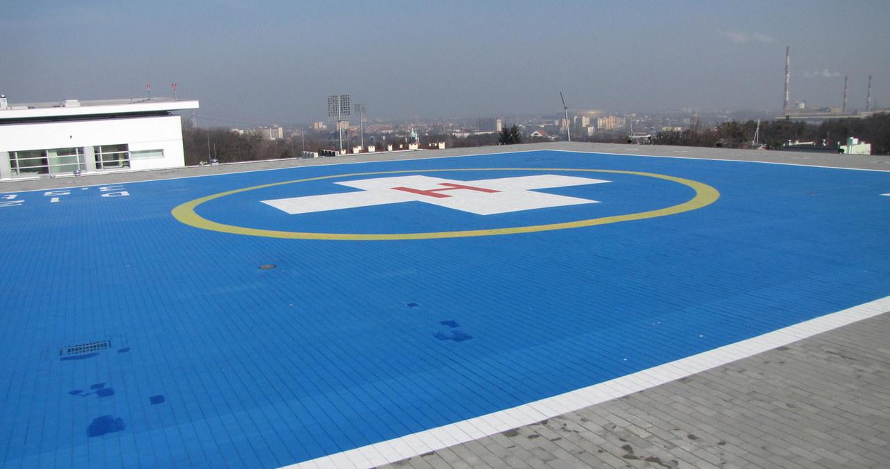 Nowoczesne lądowisko na dachu gdańskiego szpitala