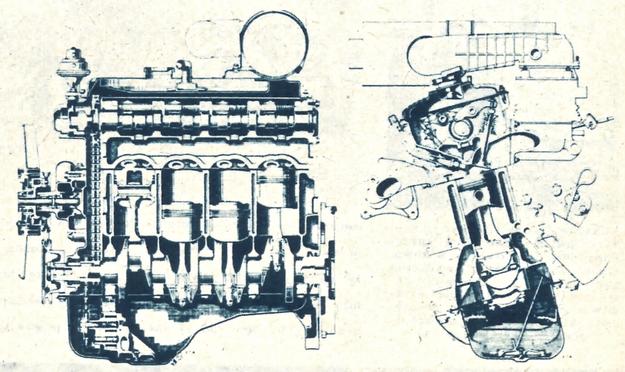 Nowoczesny rzędowy silnik o układzie nadkwadratowym, pięciu łożyskach wału korbowego i wałku rozrządu w głowicy. /Chrysler