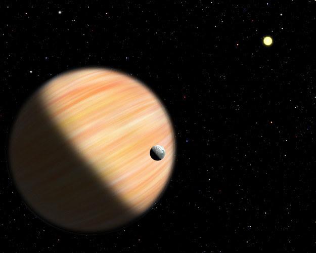 Nowoodkryta planeta ma masę rzedu połowy masy Jowisza. Tak mozna ją sobie wyobrażać. Źródło: Christine Pulliam (CfA) /materiały prasowe