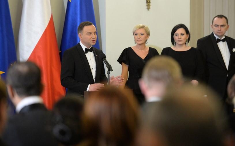 Noworoczne spotkanie z Korpusem Dyplomatycznym /Jacek Turczyk /PAP