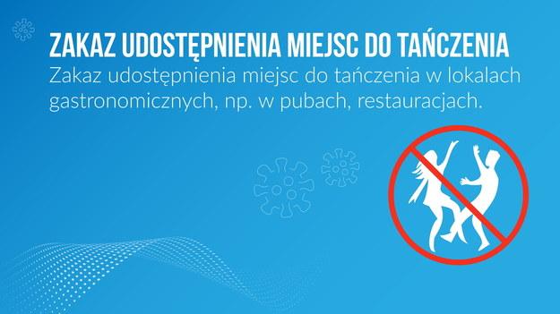Nowością jest zakaz udostępniania lokali na imprezy. /Ministerstwo Zdrowia /