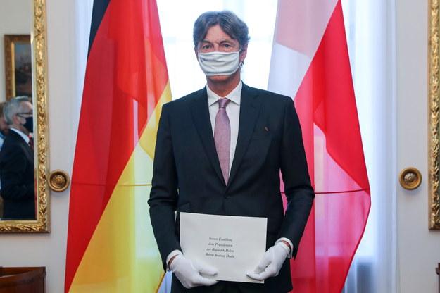 Nowy ambasador Niemiec w Polsce Arndt Freytag von Loringhoven /KPRP/Grzegorz Jakubowski  /PAP