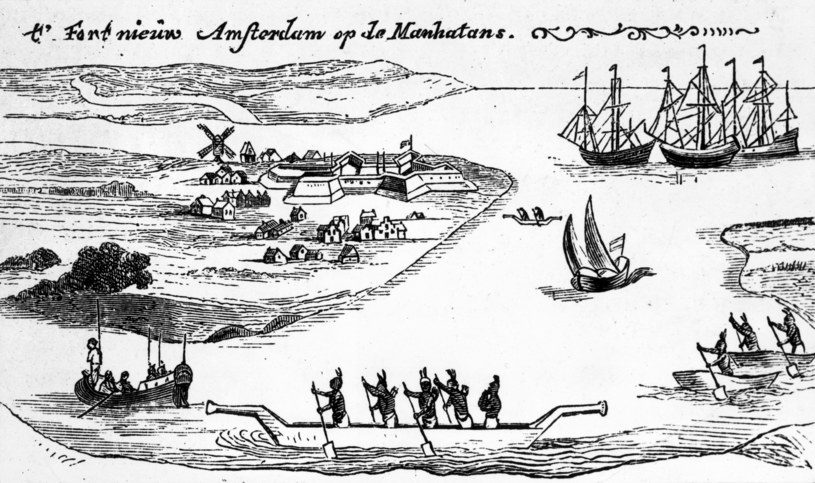 Nowy Amsterdam, widok ok. 1650 r. Hulton Archive /Getty Images
