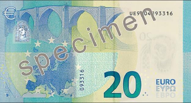 Nowy banknot 20 euro wejdzie do obiegu 25 listopada br. /