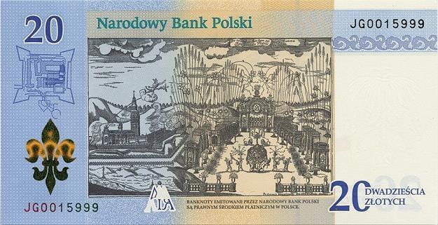 Nowy banknot kolekcjonerski: 300-lecie koronacji Obrazu Matki Bożej Jasnogórskiej - odwrotna strona /NBP
