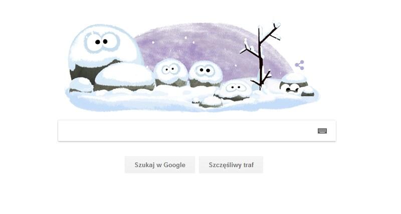 Nowy Doodle z okazji pierwszego dnia zimy /Google.com /Internet