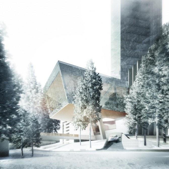 Nowy hotel będzie działał jak lustro, odbijając krajobraz gór /materiały prasowe