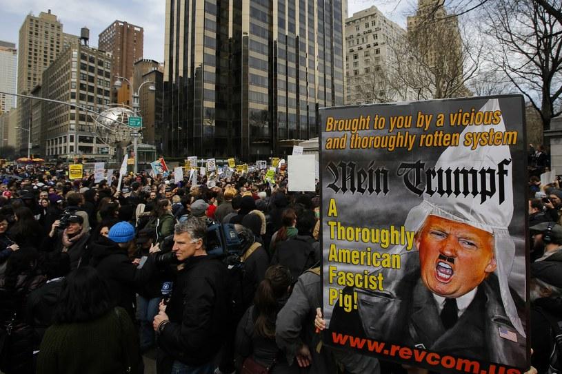 Nowy Jork: Protesty przeciwko kandydaturze Donalda Trumpa /Eduardo Munoz Alvarez /AFP
