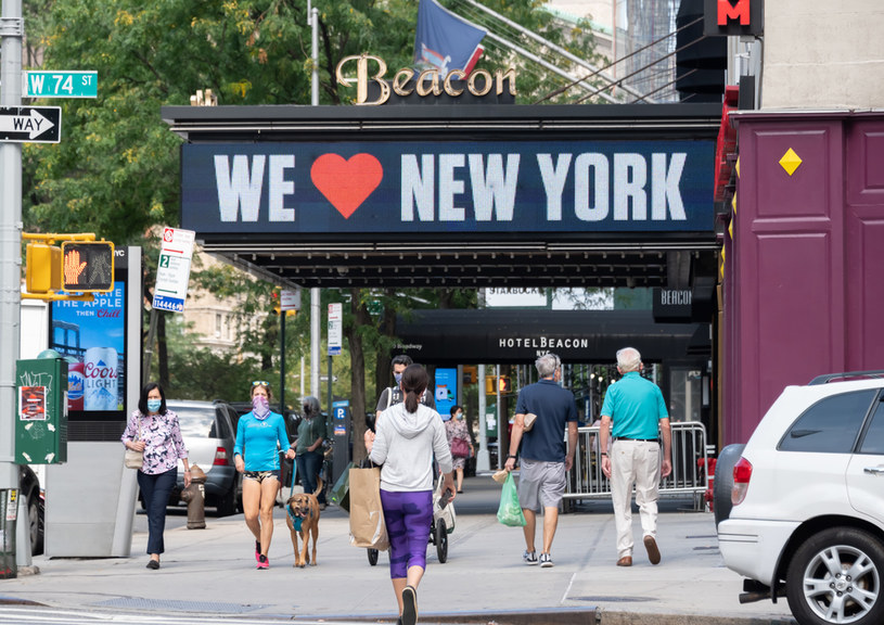 Nowy Jork w czasie epidemii koronawirusa /Noam Galai /Getty Images