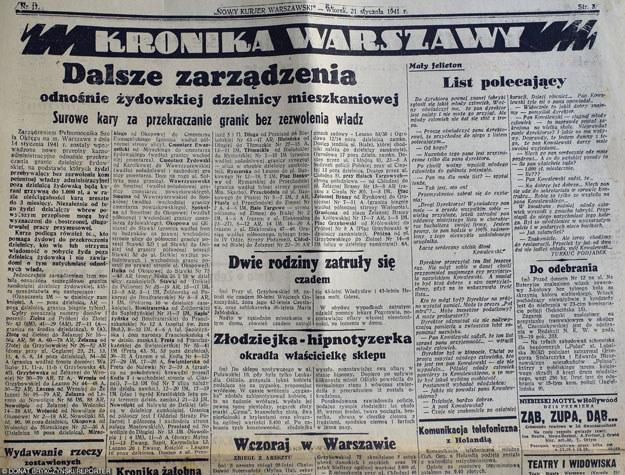 """""""Nowy Kurier Warszawski"""" z 1941 roku /Donat Brykczyński /Reporter"""
