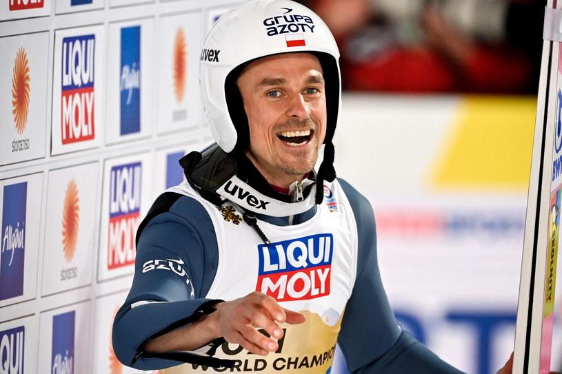 Nowy mistrz świata Piotr Żyła /PAP/EPA
