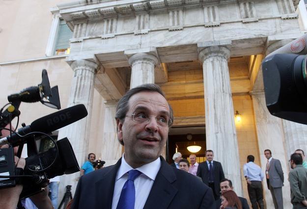 Nowy premier Grecji Antonis Samaras /AFP
