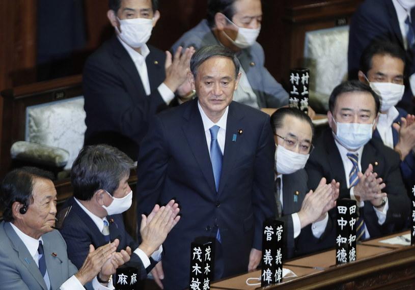 Nowy premier Japonii Yoshihide Suga /KIMIMASA MAYAMA /PAP/EPA