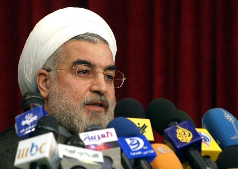 Nowy prezydent Iranu Hasan Rowhani /Abedin Taherkenareh   /PAP/EPA