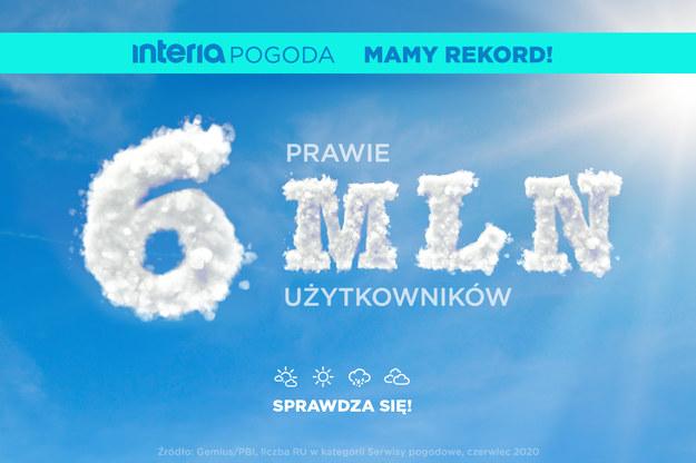 Nowy rekord serwisu Pogoda Interia  Rekord serwisu Pogoda Interia /Interia.pl /INTERIA.PL