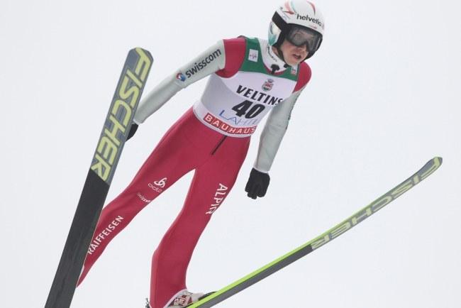 Nowy rekordzista skoczni - Simon Ammann /PEKKA SIPOLA   /PAP/EPA