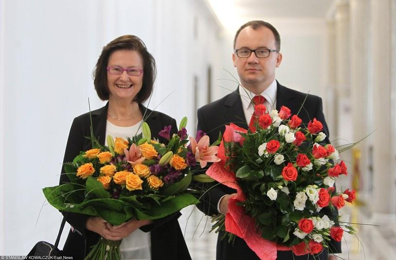 Nowy Rzecznik Praw Obywatelskich Adam Bodnar i ustępująca z tego stanowiska Teresa Lipowicz /Stanisław  Kowalczuk /East News