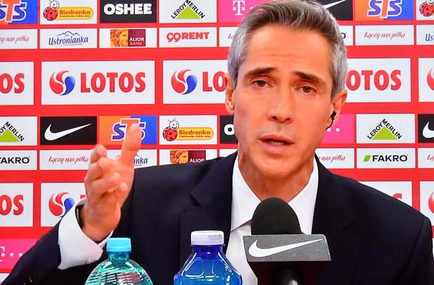 Nowy selekcjoner piłkarskiej reprezentacji Polski Paulo Sousa podczas konfererencji prasowej /Piotr Nowak /PAP