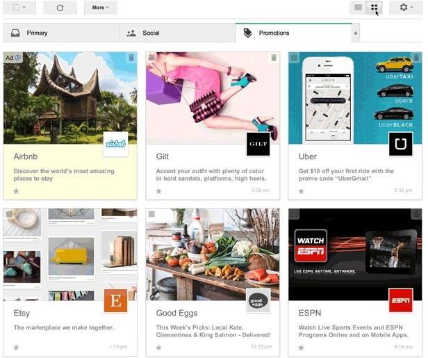 Nowy sposób prezentowania reklam na Gmailu /materiały prasowe