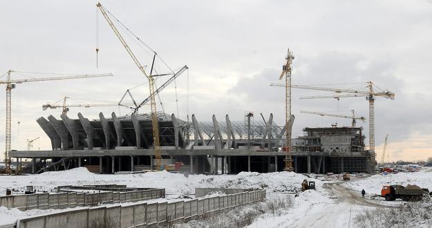 Nowy stadion we Lwowie powstaje zgodnie z harmonogramem /AFP