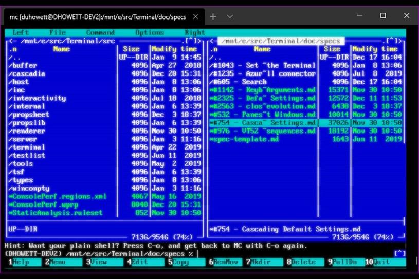 Nowy Terminal w Windows 10 / fot. TheVerge /materiał zewnętrzny