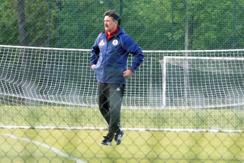 Nowy trener ŁKS-u Wojciech Stawowy /Grzegorz Michałowski /PAP