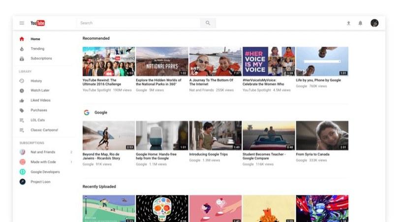 Nowy YouTube jest już dostępny dla każdego /materiały prasowe
