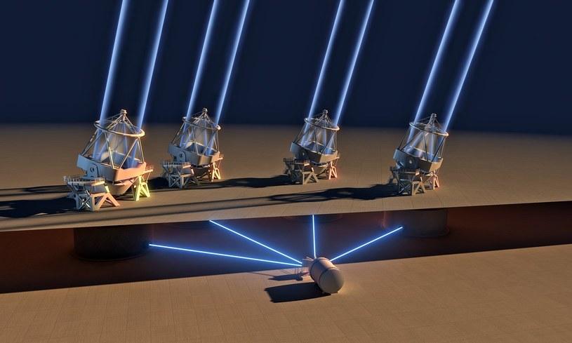 nstrument ESPRESSO na należącym do ESO teleskopie VLT w Chile po raz pierwszy połączył światło ze wszystkich czterech 8,2-metrowych Teleskopów Głównych /materiały prasowe