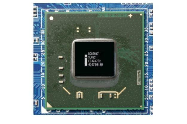 ntel H67: ten PCH jest najczęściej ukryty pod radiatorem /HeiseOnline