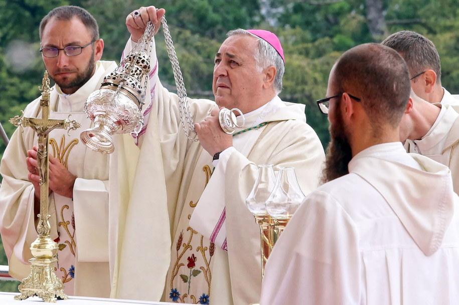 Nuncjusz apostolski w Polsce, abp Salvatore Pennacchio podczas uroczystości Wniebowzięcia Najświętszej Marii Panny /Waldemar Deska /PAP