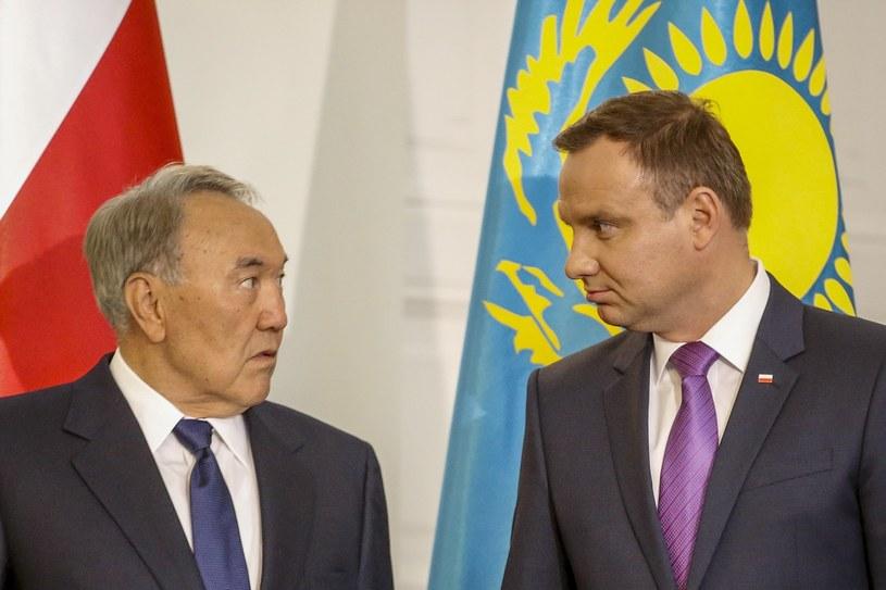 Nursułtan Nazarbajew i Andrzej Duda /Andrzej Iwańczuk /Reporter
