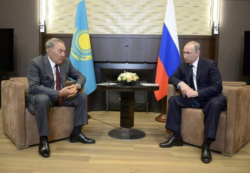Nursułtan Nazarbajew spotkał się z prezydentem Władimirem Putinem w Soczi /ALEXEY NIKOLSKY /PAP/EPA