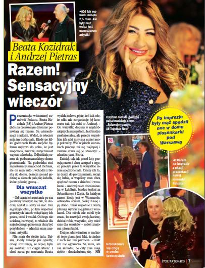 """O Beacie Kozidrak i Andrzeju Pietrasie pisze """"Życie na gorąco"""" /Życie na gorąco"""