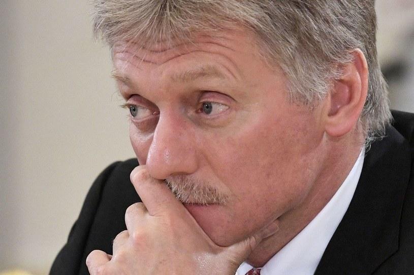 O dalszych krokach w tej sprawie poinformował rzecznik Kremla Dmitrij Pieskow /SPUTNIK/ALEXEY NIKOLSKY /AFP