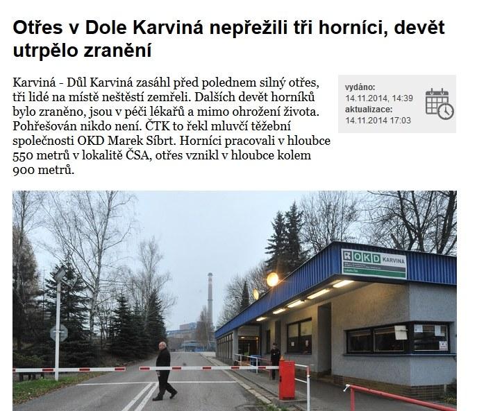 O katastrofie piszą czeskie media, fot. ceskenoviny.cz /