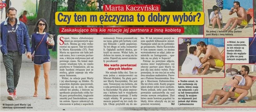 """O Marcie Kaczyńskiej i jej przyjacielu napisał tygodnik """"Życie na Gorąco"""" /- /Życie na gorąco"""