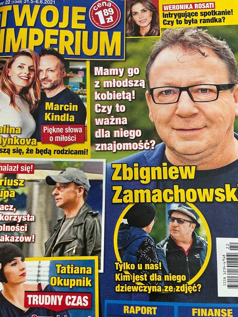 """O nowej znajomości Zbigniewa Zamachowskiego donosi """"Twoje Imperium"""" /Okładka """"Twojego Imperium""""/materiały prasowe /"""