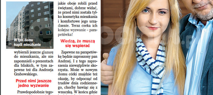 """O nowym mieszkaniu córki Grabowskiego rozpisuje się """"Życie na gorąco"""" /Życie na gorąco"""