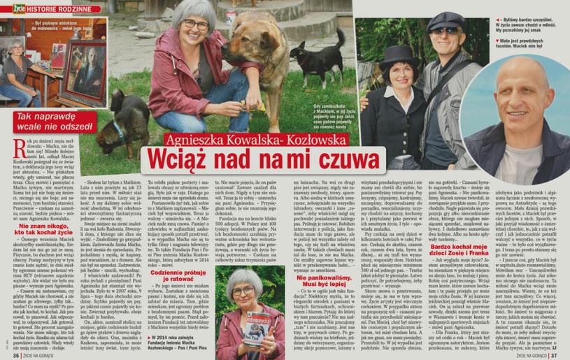 """O pani Agnieszce pisze tygodnik """"Życie na gorąco"""" /Życie na gorąco"""