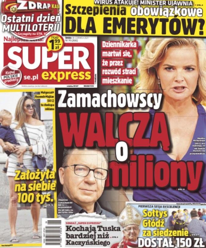"""O podziale majątku Zamachowskich donosi """"Super Express"""" /materiały prasowe"""