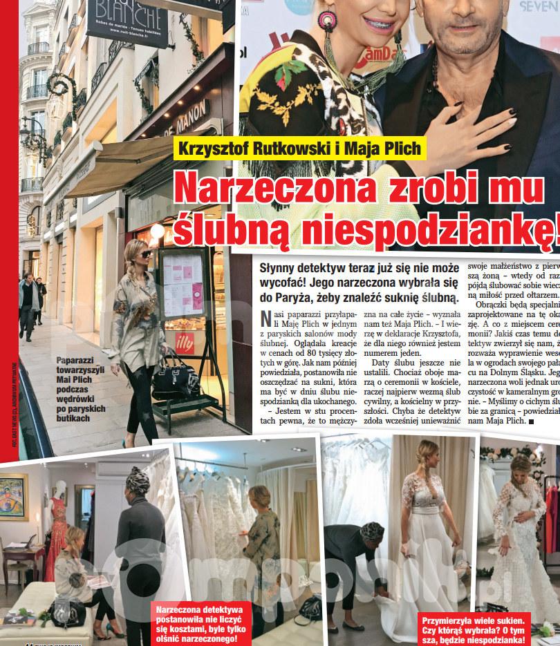 Narzeczona Krzysztofa Rutkowskiego Szykuje Się Do ślubu Suknia Za