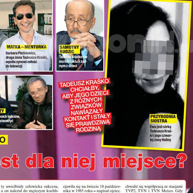"""O przyrodniej siostrze Kraśki rozpisuje się tygodnik """"Na Żywo"""" /Na żywo"""