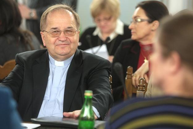 O. Rydzyk na posiedzeniu sejmowej Komisji Kultury i Środków Przekazu, fot. L. Szymański /PAP