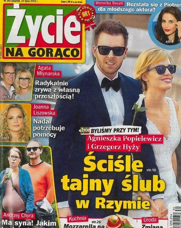 """O ślubie Agnieszki i Grześka jako pierwsze napisało """"Życie na Gorąco"""" /materiały prasowe"""