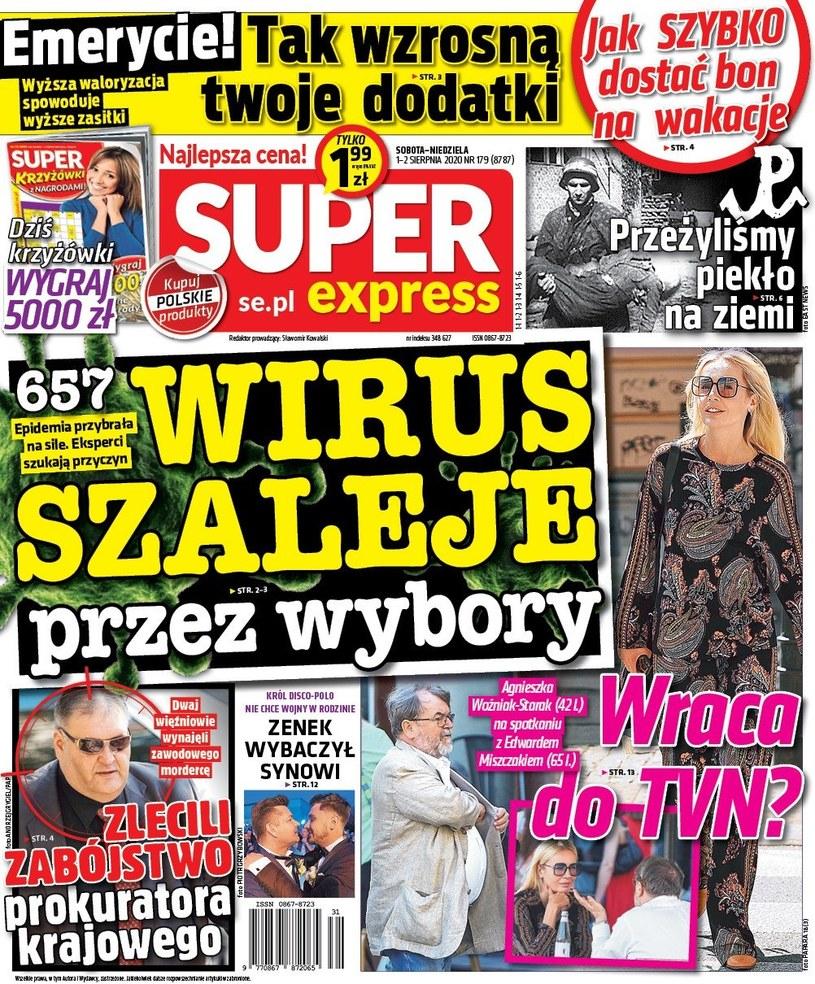 """O spotkaniu Agnieszki i Miszczaka pisze weekendowy """"Super Express"""" /materiał zewnętrzny"""