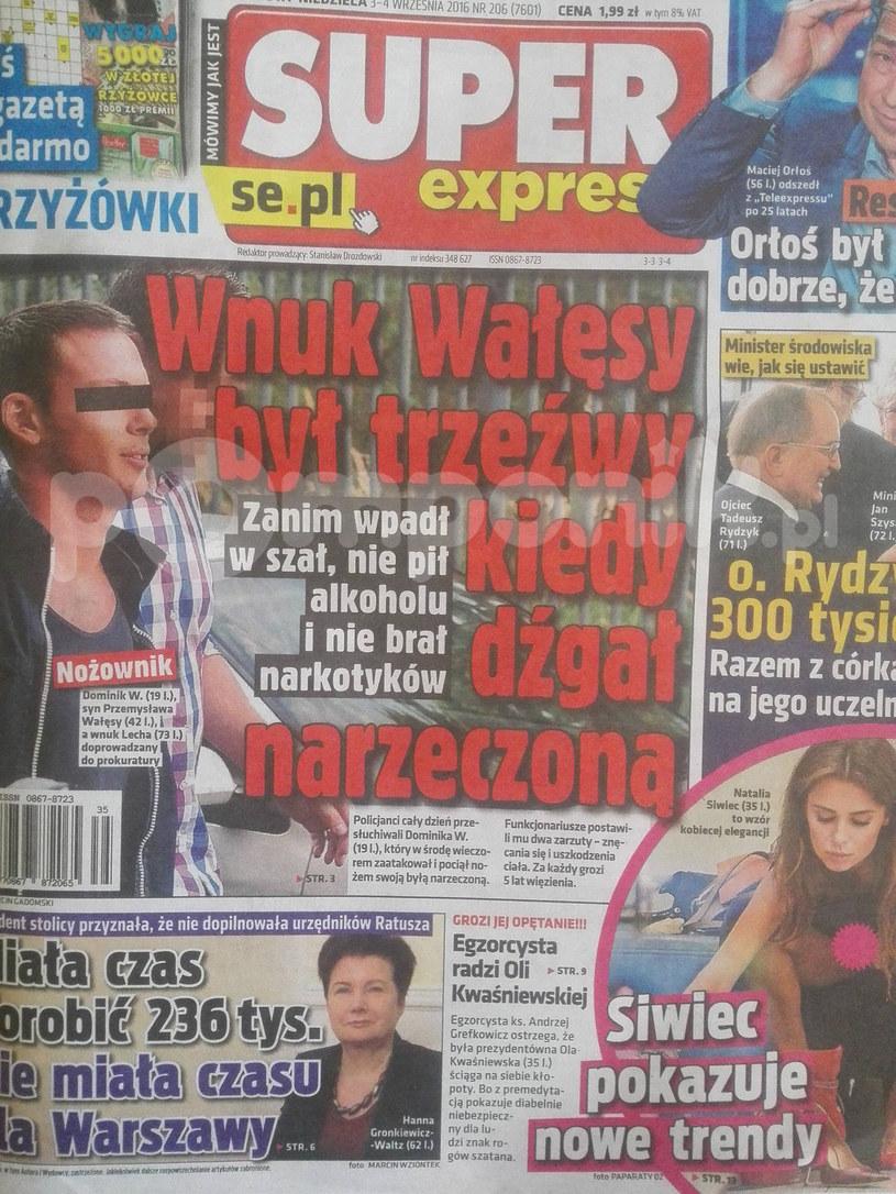 O sprawie Dominika piszą niemal wszystkie media w Polsce /Super Express