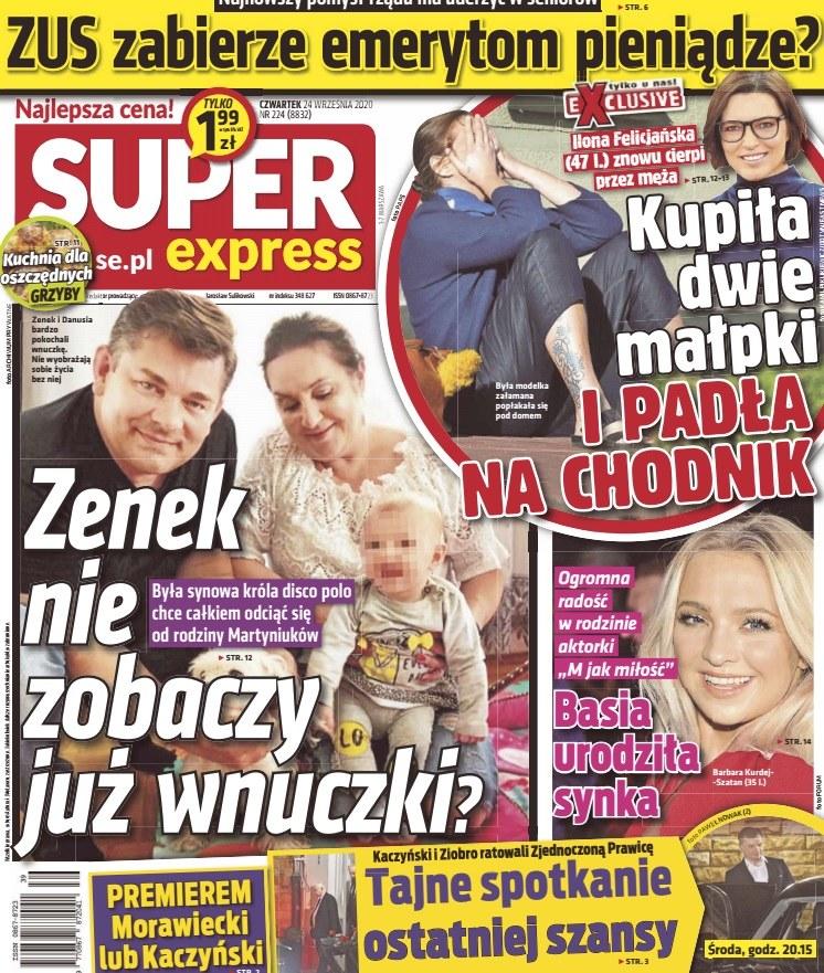 """O sprawie Ilony Felicjańskiej donosi """"Super Express"""" /materiały prasowe"""