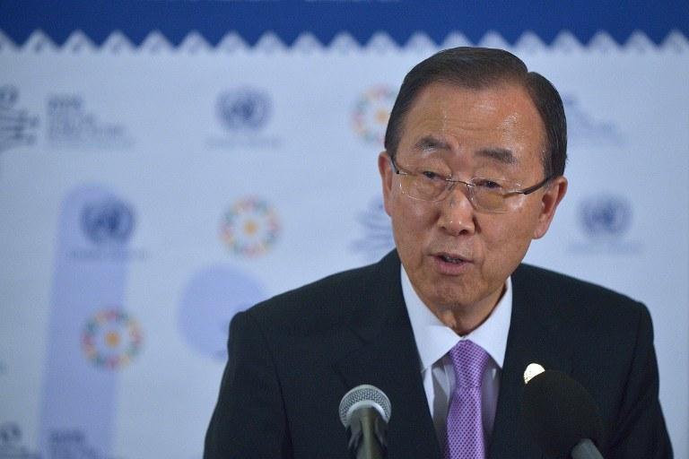 O sprawie poinformował sekretarz generalny ONZ Ban Ki Mun /TONY KARUMBA / AFP /AFP